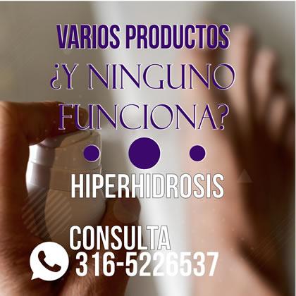 Hiperhidrosis en Pies