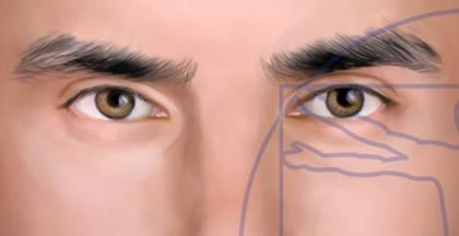 Ojos Hombre sin ojeras