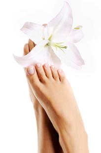 Fotografía de pies hermoso sin sudor